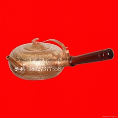 手打錘點紫銅水壺 潮汕功夫茶具 買銅工夫茶具找沙河