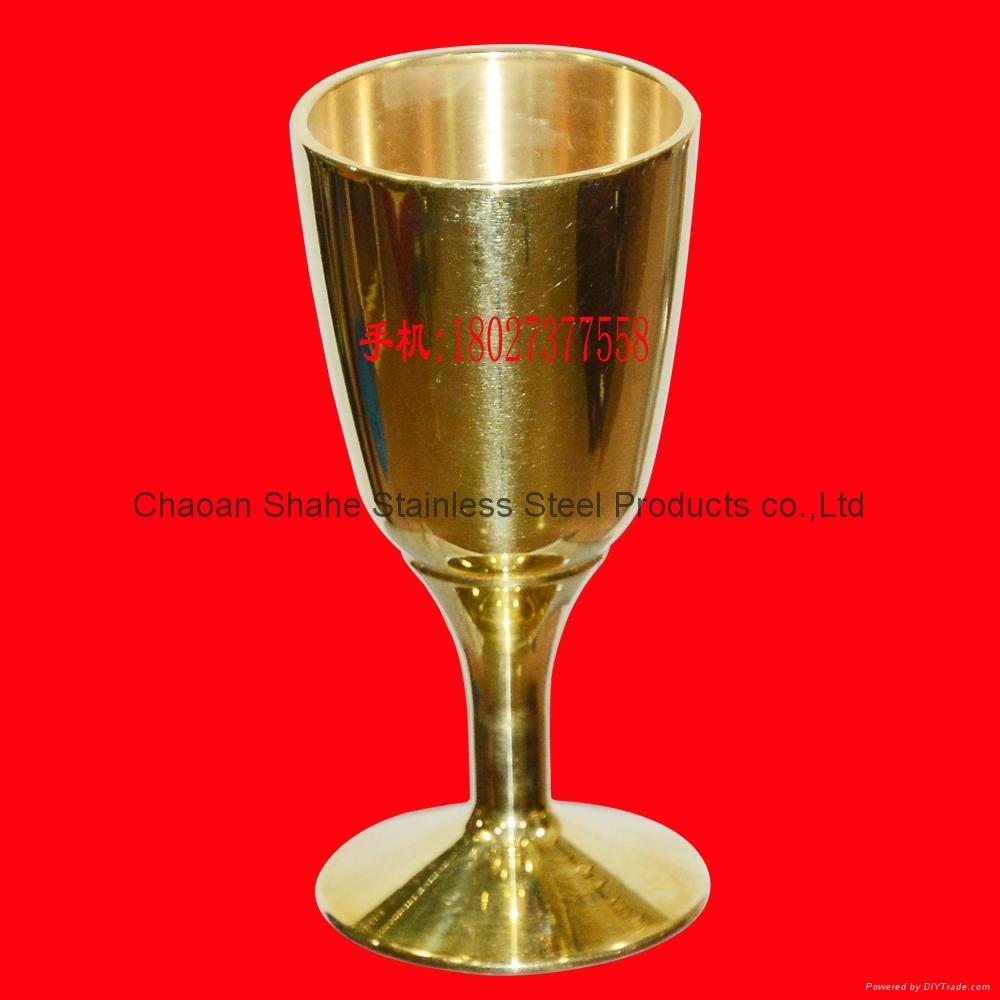 直径37mm 高度74mm 铜酒杯 铜摆件 买铜酒杯找沙河 1