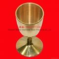 直径37mm 高度74mm 铜酒杯 铜摆件 买铜酒杯找沙河 2