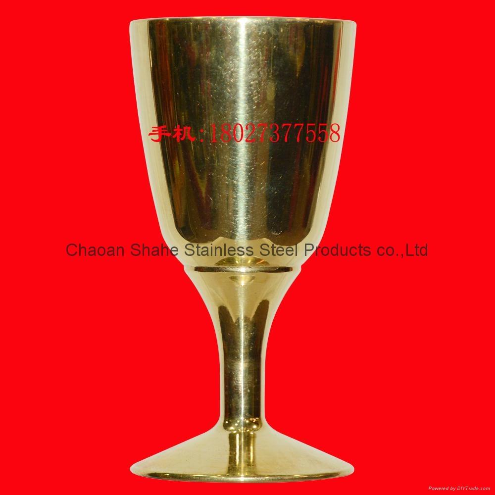 直径37mm 高度74mm 铜酒杯 铜摆件 买铜酒杯找沙河 3