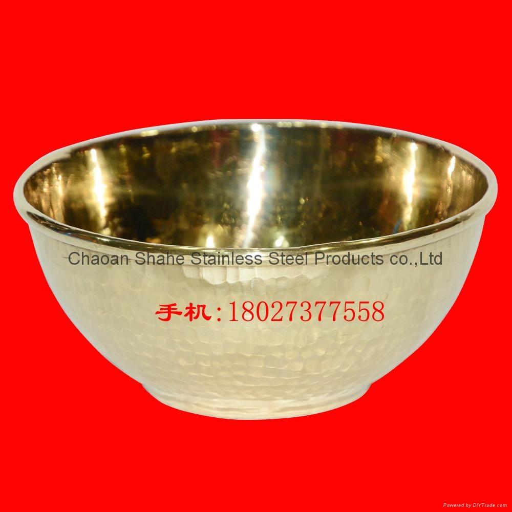 手打锤点黄铜饭碗 买铜碗找沙河 1