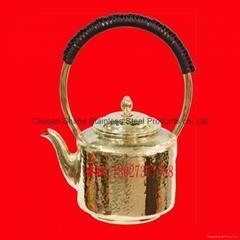 手打錘點直身銅水壺