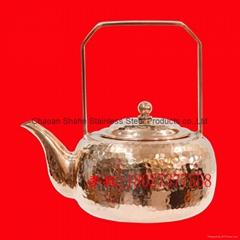 手工锤点铜水壶 买铜茶壶找沙河