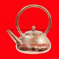 Chaoshan Gongfu Tea Set--Handmade hammer line pure copper water pot
