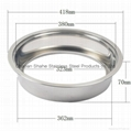 hot pot store articles S/S sinking style induction cooker fire pot ring