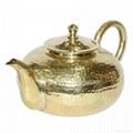 黄铜泡茶壶