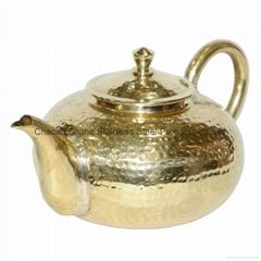 黃銅泡茶壺