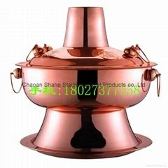 Pure copper mutton hotpot charcoal burner chimney pot