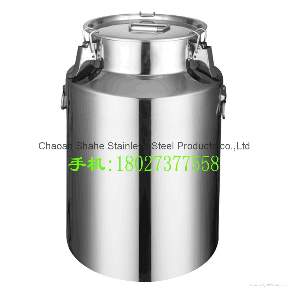 密封罐不锈钢油桶酒容器存储运输周转牛奶桶包装用品适用榨油作坊 1