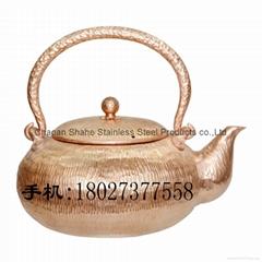 Red Copper Handmade Chaoshan Gongfu Teapot