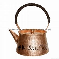 Red Copper Chaoshan Gongfu Teapot