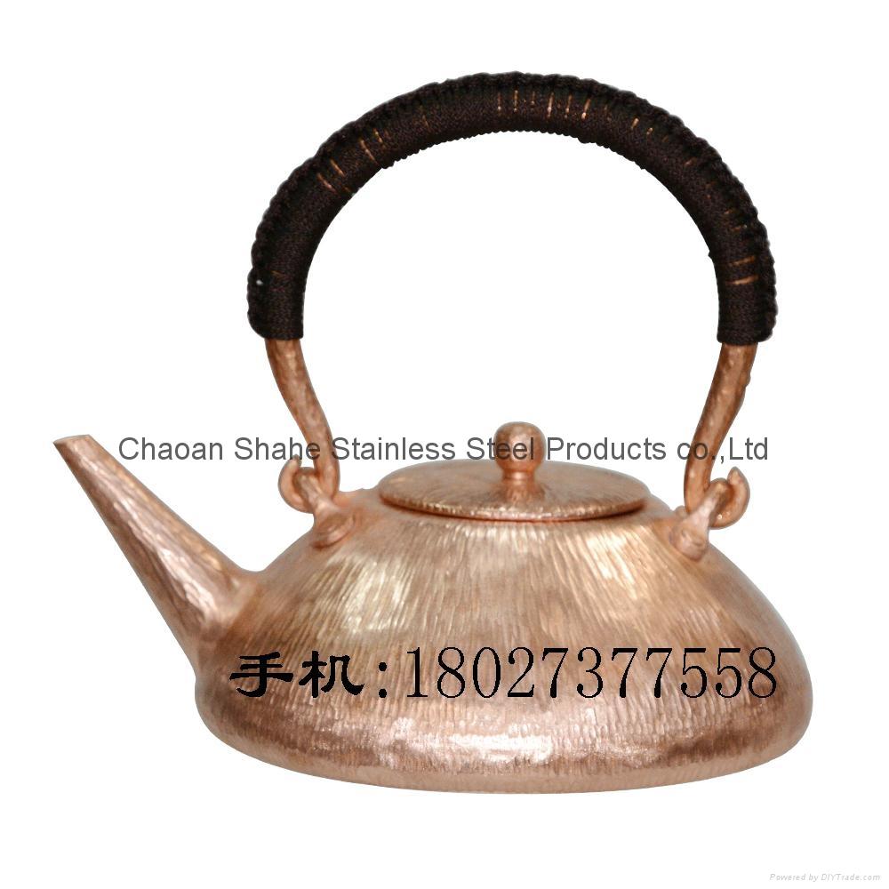 Handmade Red Copper Chaoshan Gongfu Teapot  1