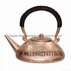 Handmade Red Copper Chaoshan Gongfu Teapot