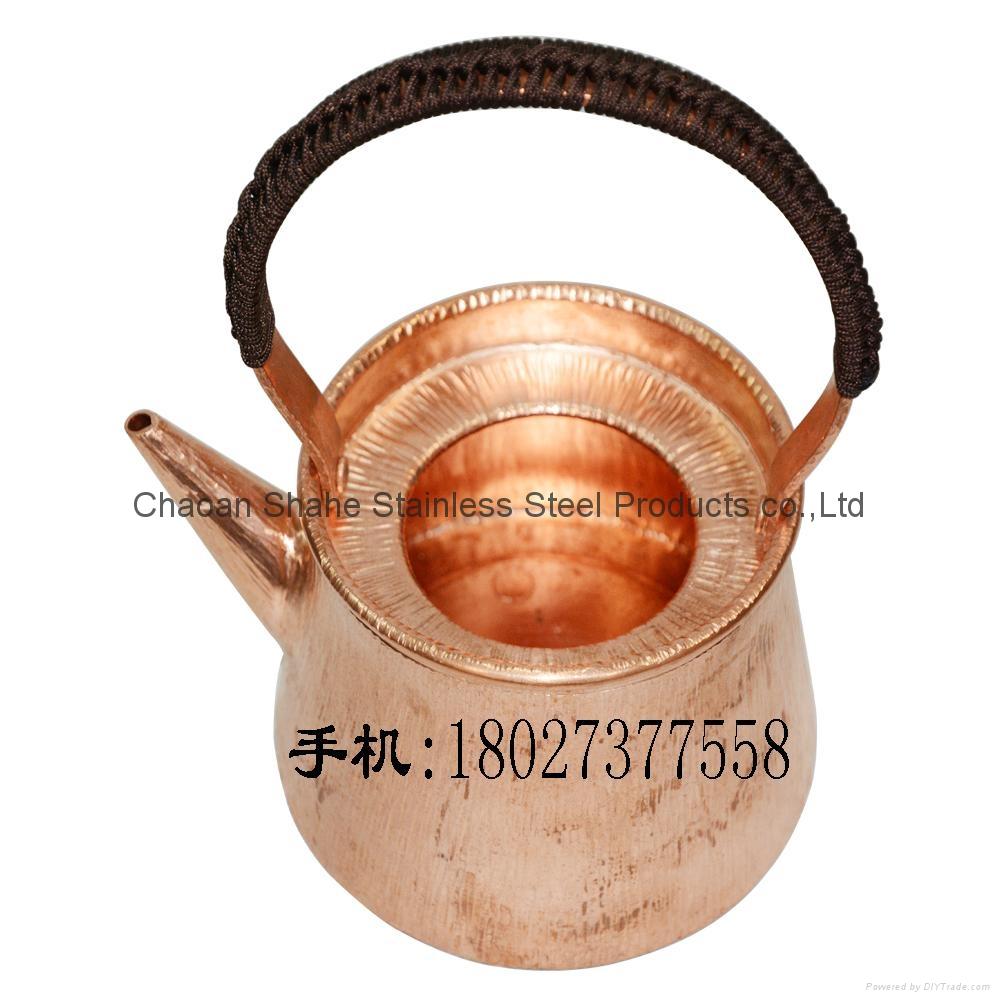 Red Copper Chaoshan Gongfu Teapot Tea Kit 2