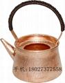 Red Copper Chaoshan Gongfu Teapot Tea Kit 5