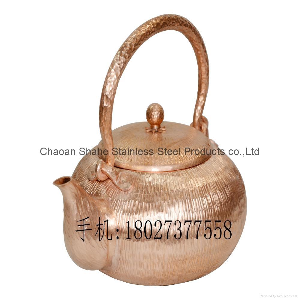 Red Copper Handmade Chaoshan Gongfu Teapot 5