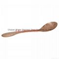 Copper soup spoon