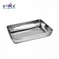 Restaurant & Hotel Rectangular Stainless Steel Towel Serving Tray Tableware 1