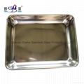 Restaurant & Hotel Rectangular Stainless Steel Towel Serving Tray Tableware 2