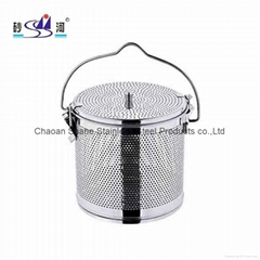 不鏽鋼板網湯籃