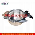 Kitchen Metal s/s Shabu Pot Container Fish Shape Soup Pot grunting fish hot pot 2
