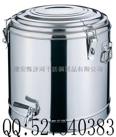 Stainless steel double insulation tea barrel