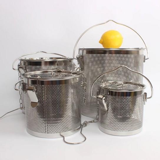新款不锈钢汤篮卤料篮茶叶篮大号商用卤料笼沥水隔渣过滤网加固扣 2