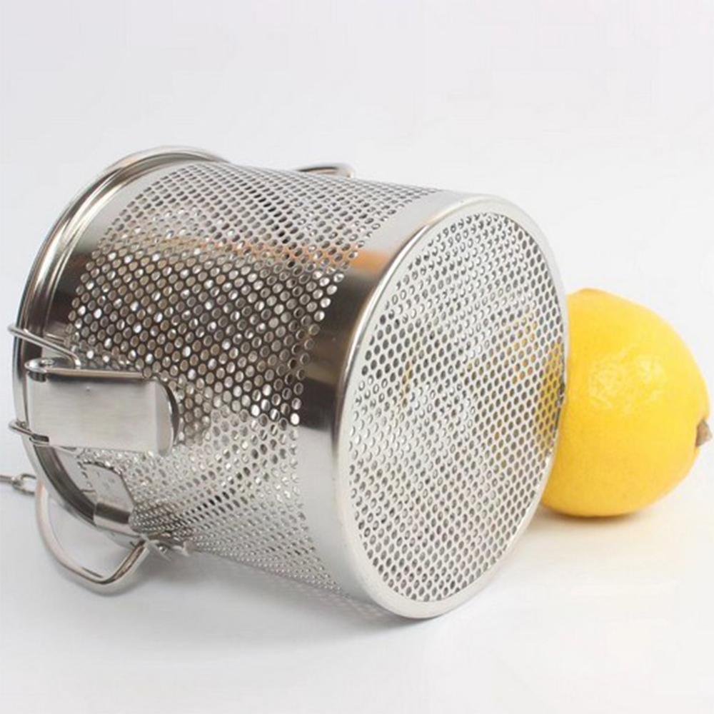 新款不锈钢汤篮卤料篮茶叶篮大号商用卤料笼沥水隔渣过滤网加固扣 3