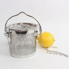 新款不锈钢汤篮卤料篮茶叶篮大号商用卤料笼沥水隔渣过滤网加固扣
