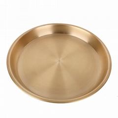 砂河加厚铜盘器纯紫铜铜盘子铜器餐盘圆铜盘纯铜盘铜鸡盘多规格