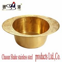 Foot spa bowl Brass foot wash basin foot spa bucket