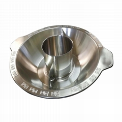 cooking stainless steel pan with central pot & bulkheads Available Gas stove