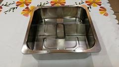 熱銷廚具30cm四方帶柱帶格火鍋盆酒樓用具適用於燃氣爐使用