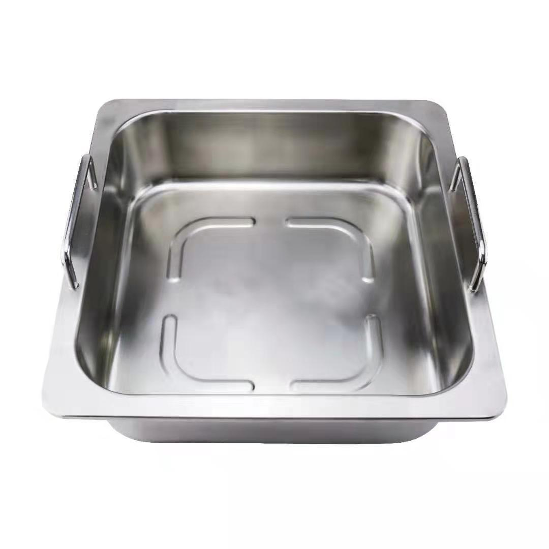 Hot sell Kitchenware Stainless steel square fondue Available Gas furnace 1
