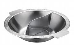 厚重厨具7.5升大容量商用钢鸳鸯火锅燃气炉电磁炉可用酒楼用品