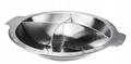 厂家促销大容量食品容器汤锅砂锅不锈钢四格火锅电磁炉燃气炉通用 2