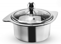 Stainless Steel Cooking Cookware Milk Pot For Cooking Even Handlebar 2
