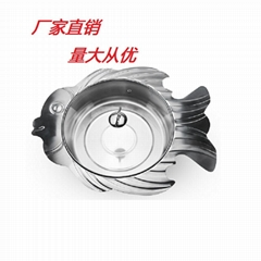 Stainless steel fish shape pot with glasses lid for Restaurant Hotel