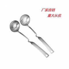 弯曲柄汤壳 漏壳 汤勺 漏勺