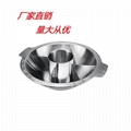 s/s cooking pan with Central pot &