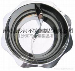 mini yuanyang hot pot,lotus shape basin,lotus shape yuanyang hot pot