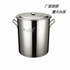 厨房18/10不锈钢大容量汤桶不容易生锈可用燃气炉