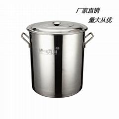 廚房18/10不鏽鋼大容量湯桶不容易生鏽可用燃氣爐