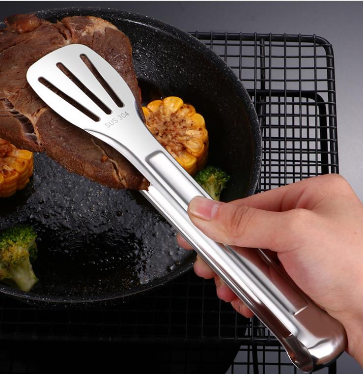 餐具燒烤食品夾沙拉小夾子夾火鍋店自助餐食品夾不鏽鋼 3