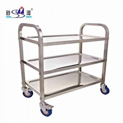 Clearing Trolley Large 95x50cm Stainless Steel Catering kitchen cart