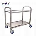 厨房用品不锈钢二层餐车750*