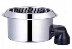 不鏽鋼迷你型火鍋連底座無煙寶火鍋