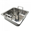 Cooking pan with Central pot & divider