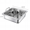 炊具不鏽鋼方形鍋中鍋