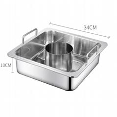 炊具不锈钢方形锅中锅